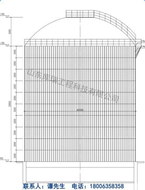 佳木斯钢板库设计-结构